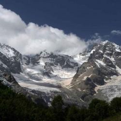ледник на кавказе